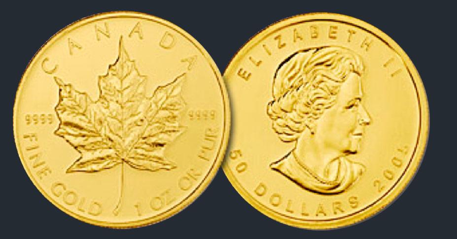Canadian Maple Leaf Gold Bullion Coins | Robert R  Johnson