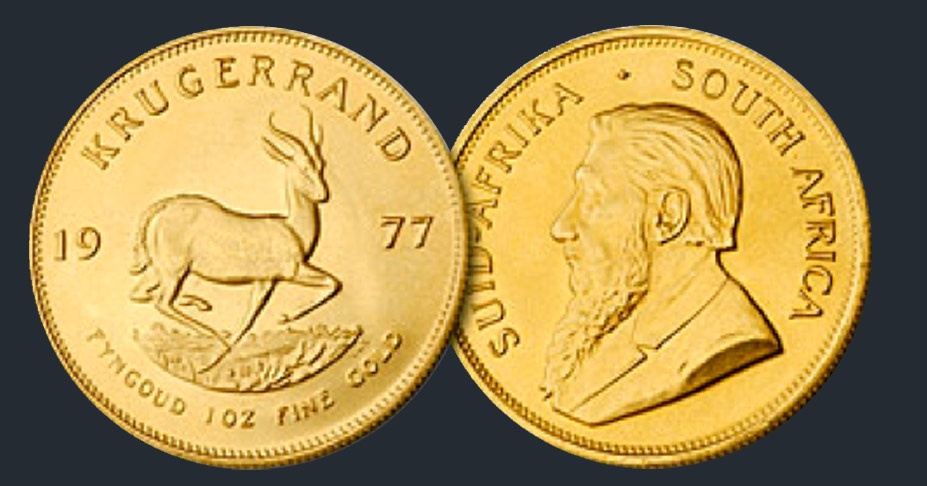 Krugerrand Gold Coins From South Africa Robert R Johnson